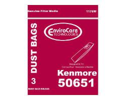 Kenmore 50651 Vacuum Bags (3 pack)