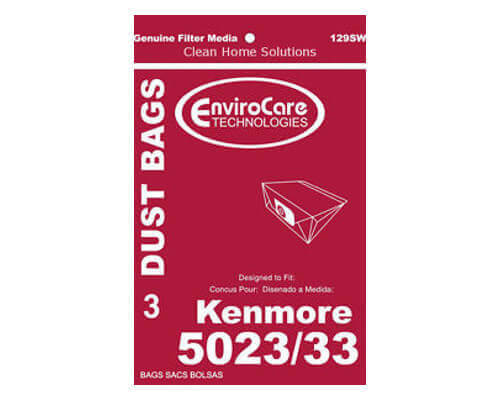 Kenmore Type E Vacuum Bags - 5023 & 5033 (3 pack) - Click Image to Close