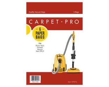 Carpet Pro CPCP-6 Canister Vacuum Bags (6 pack)