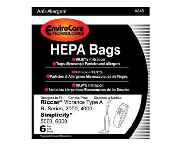 Fuller Brush Upright Vacuum Bags HEPA (6 bags)