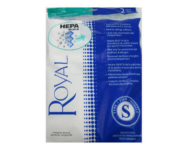Royal Type S HEPA Vacuum Bags (2 pack)