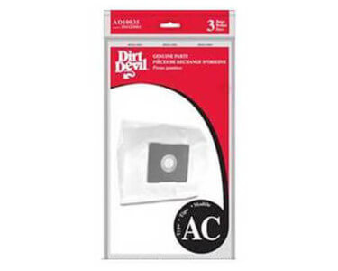 Dirt Devil Type AC Vacuum Bags (3 pack)