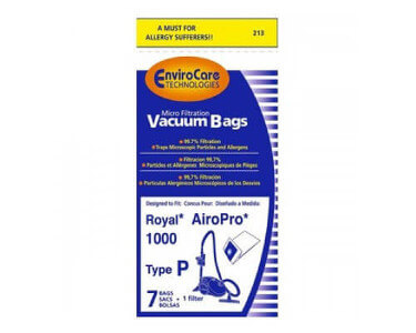Royal Type P Vacuum Bags (7 pk + filter)