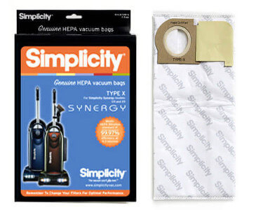 Simplicity Synergy Type X HEPA Vacuum Bags
