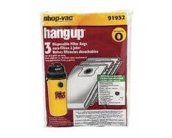 Shop Vac Hang Up - Type O Bags - 5 gallon - 91932-00