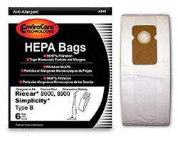 Simplicity Type B HEPA Vacuum Bags for 7000 Series (6 pack)